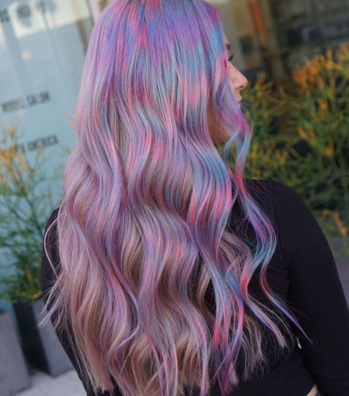 Taglio color unicorno
