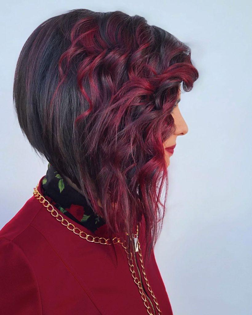 Carrè moderno rosso nero