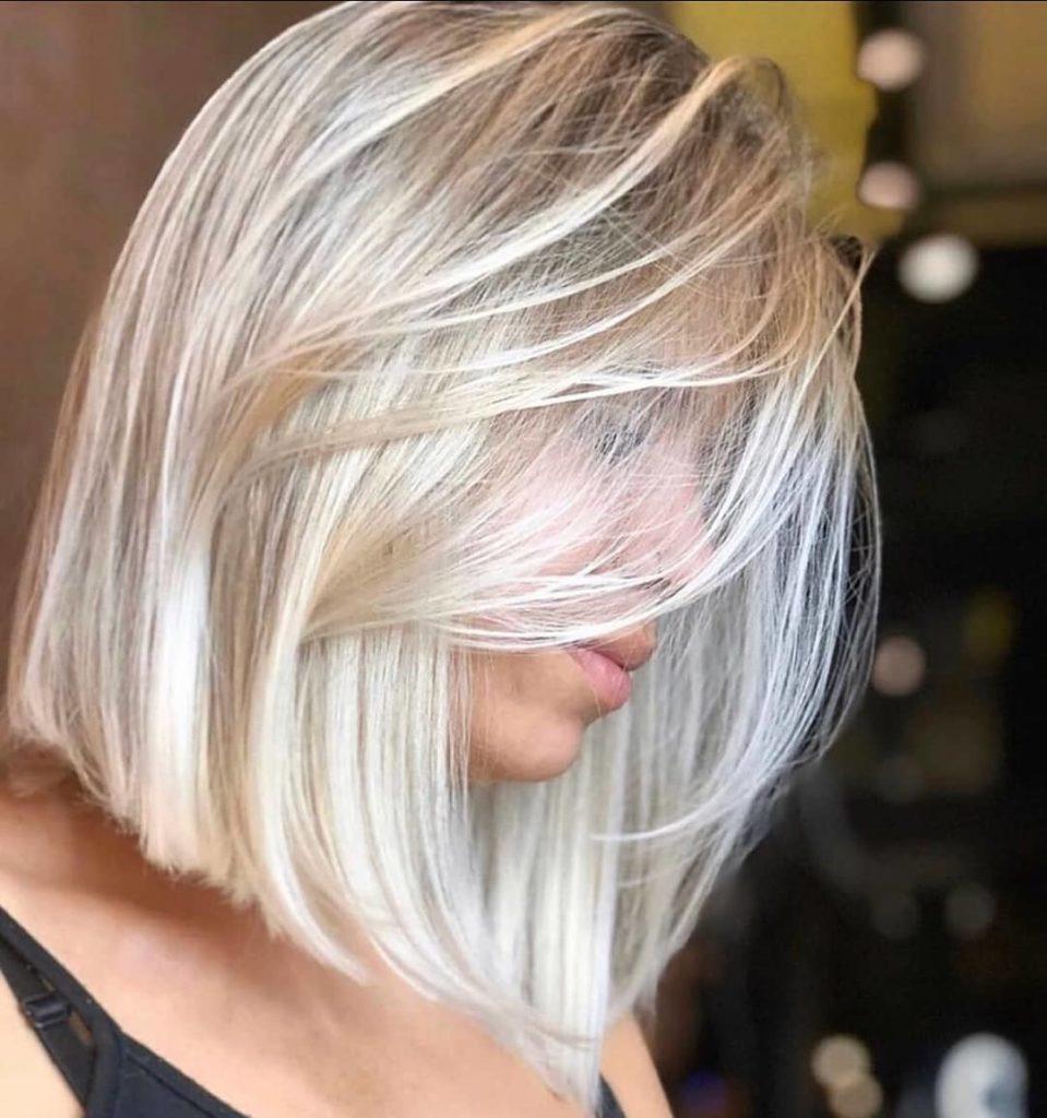 caschetto capelli biondo platino