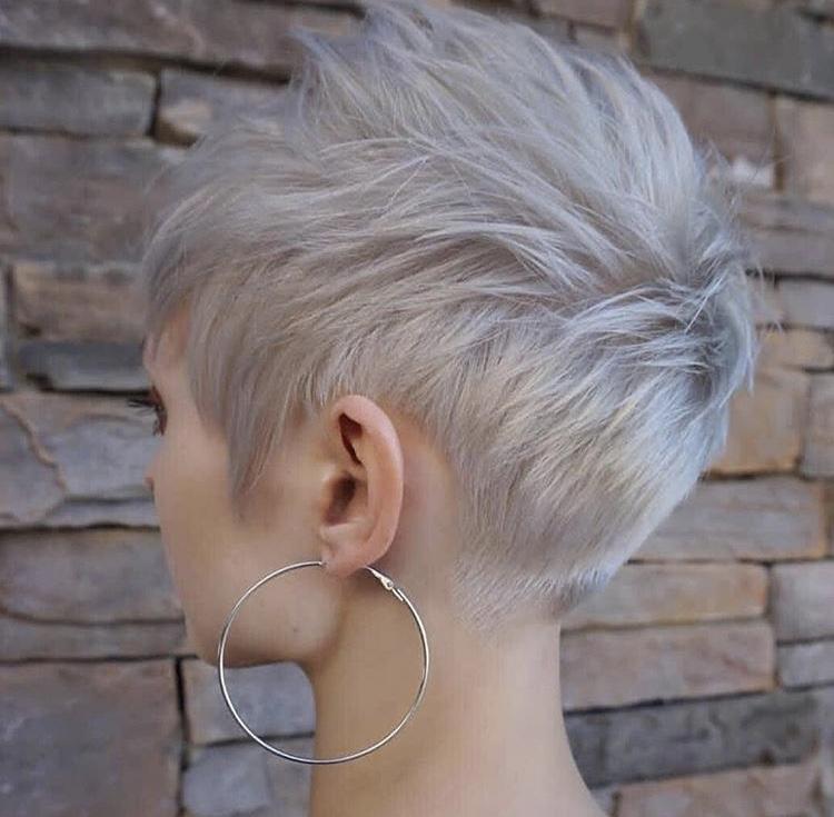 Pixie Cut Bianco argento