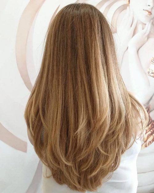 capelli lunghi e scalati