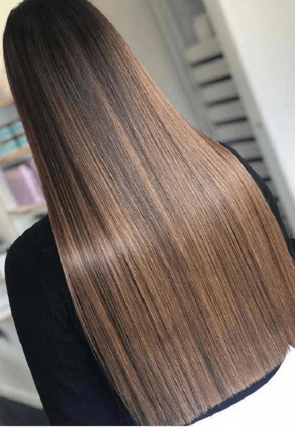 capelli cioccolato liscio