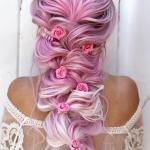 treccia rosa