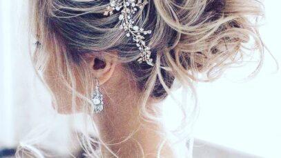 chignon morbido per un look da sposa