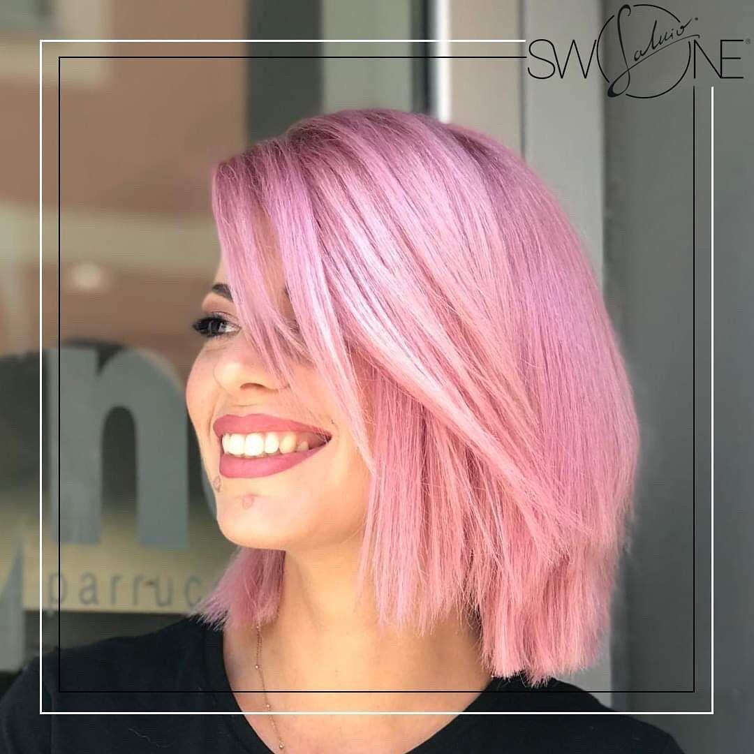bob scalato e asimmetrico rosa, glam&chic!